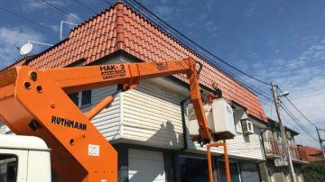 Измиване на фасади. Почистване на фасади на сгради.